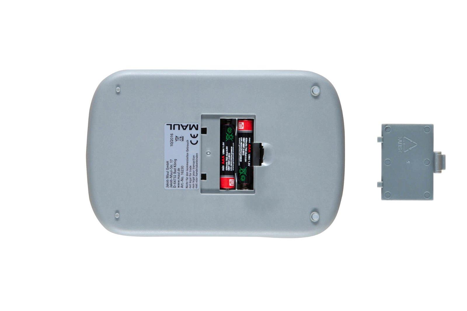 Briefwaage MAULstart mit Batterie, 2000 g, grau