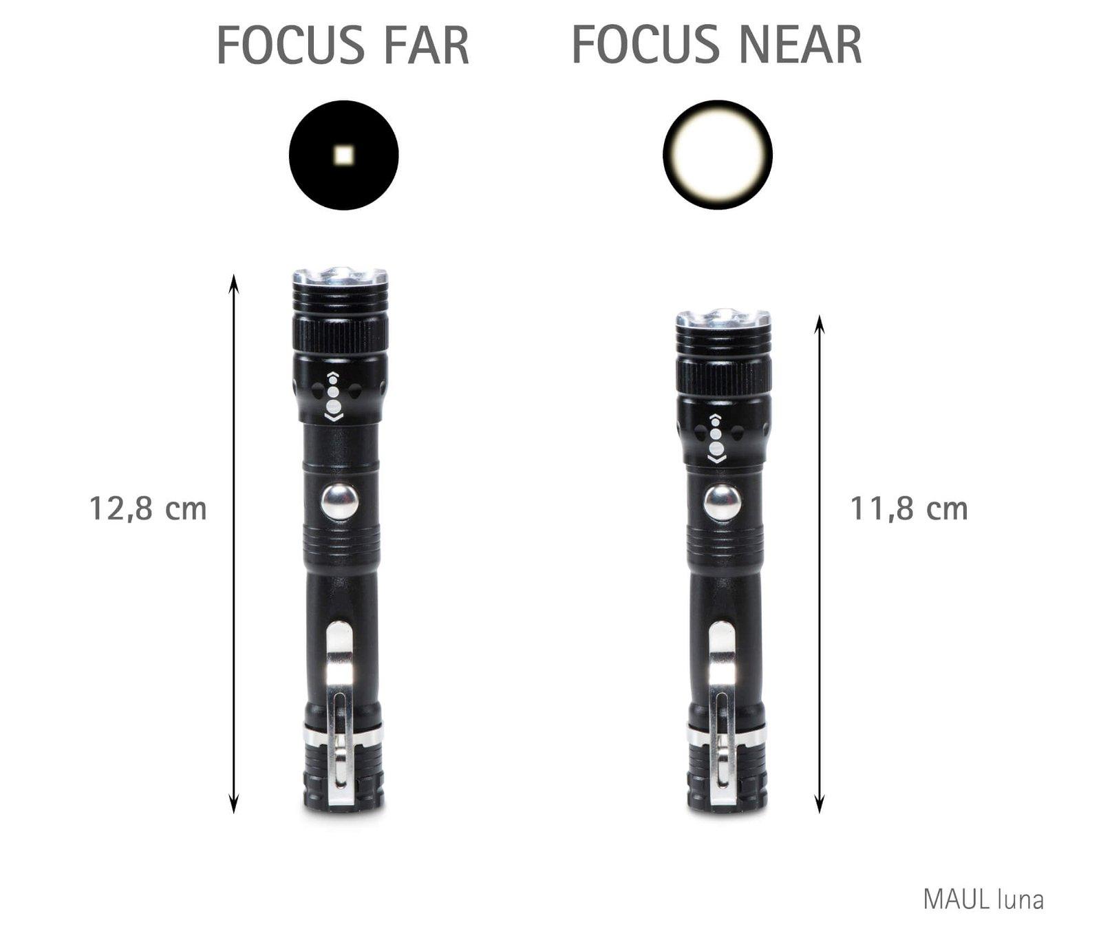 LED-Taschenlampe MAUL luna Zoom