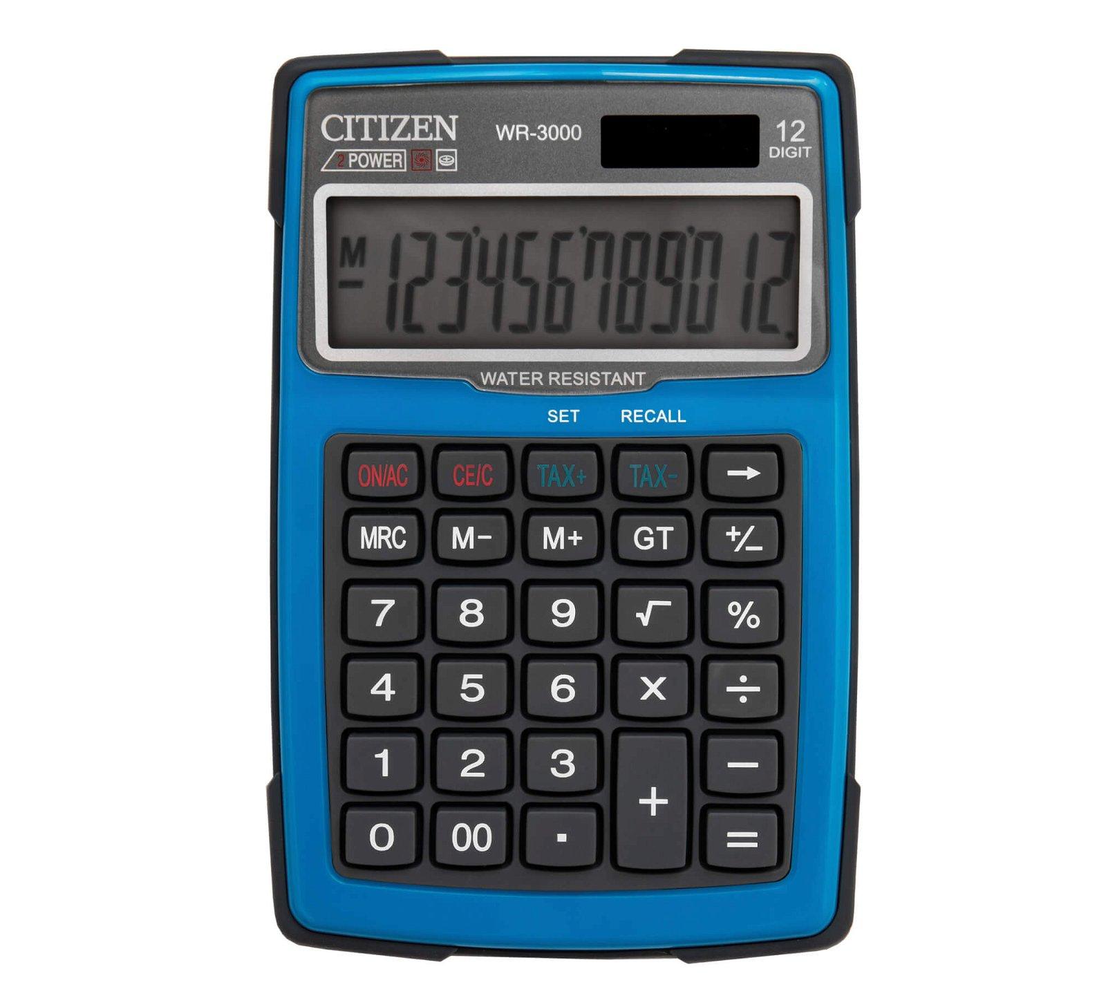 Tischrechner outdoor WR-3000BL, hellblau