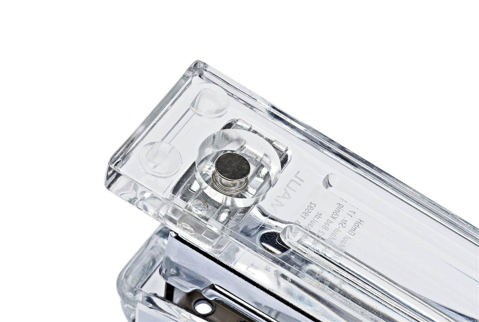 Acryl-Heftgerät für 24/6er und 26/6er Heftklammern, glasklar
