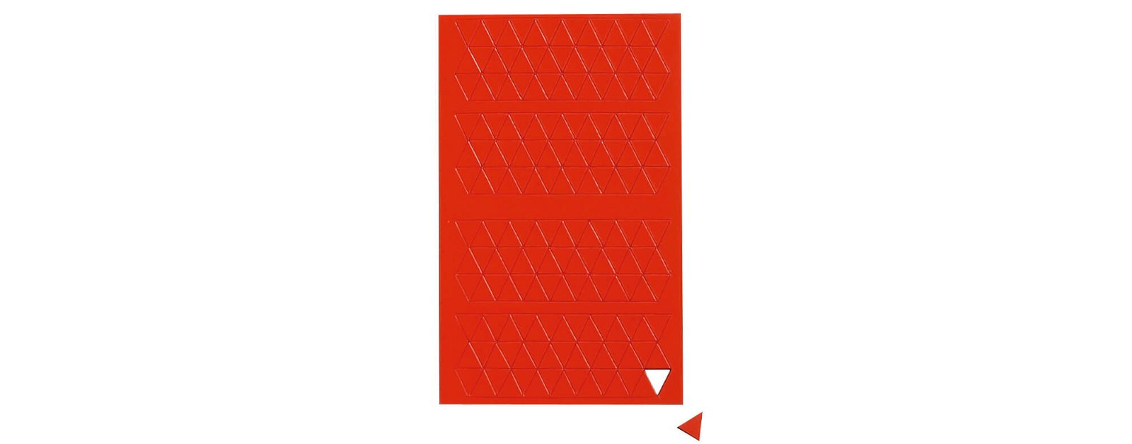 Magnetsymbole Dreieck,  180 St./Btl., rot