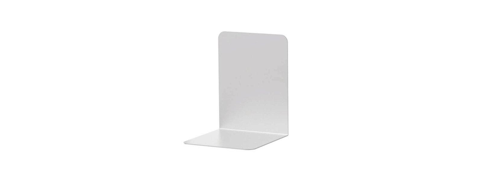 Buchstützen aus Aluminium, 10 x 10 x 13 cm, aluminium