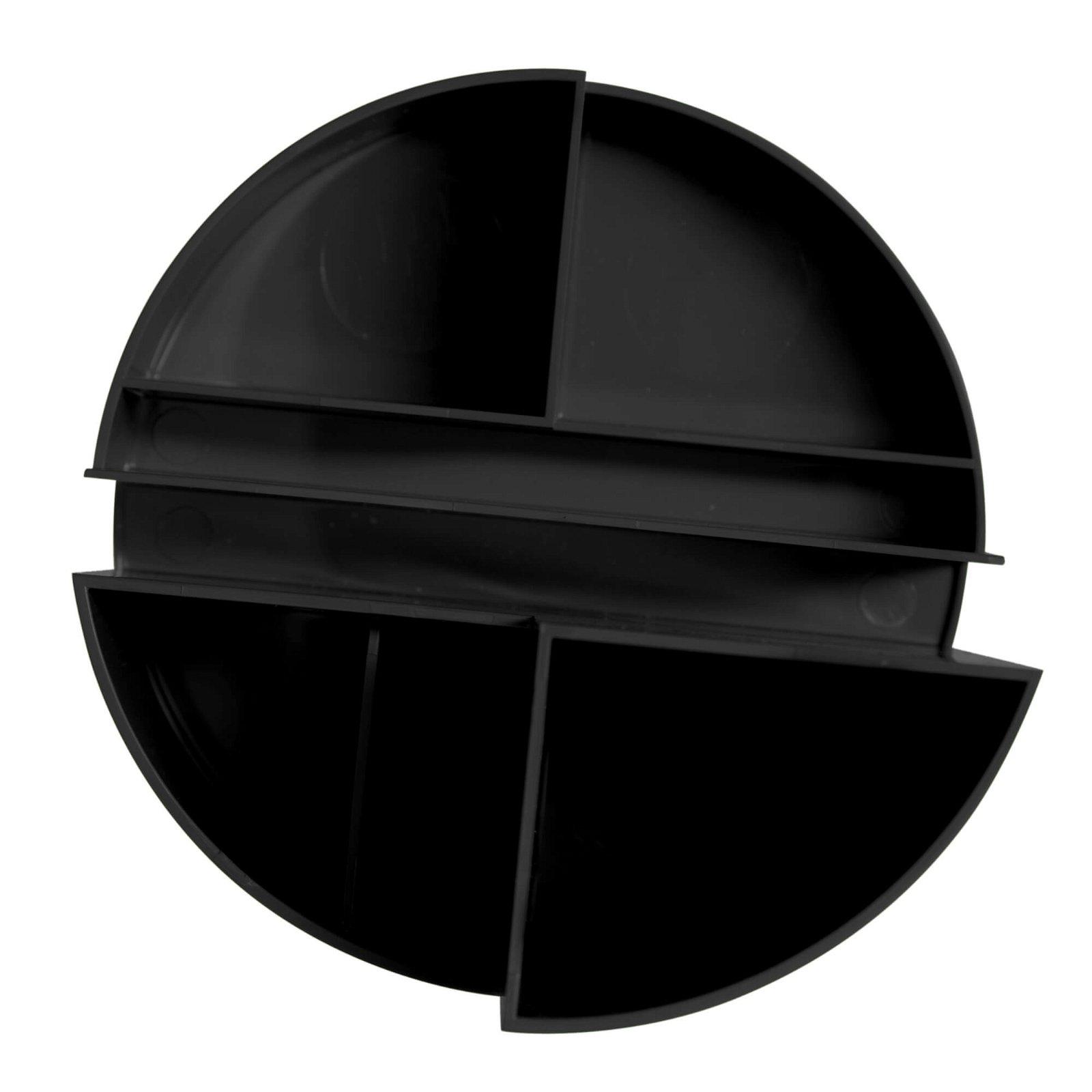 Rundbox, schwarz