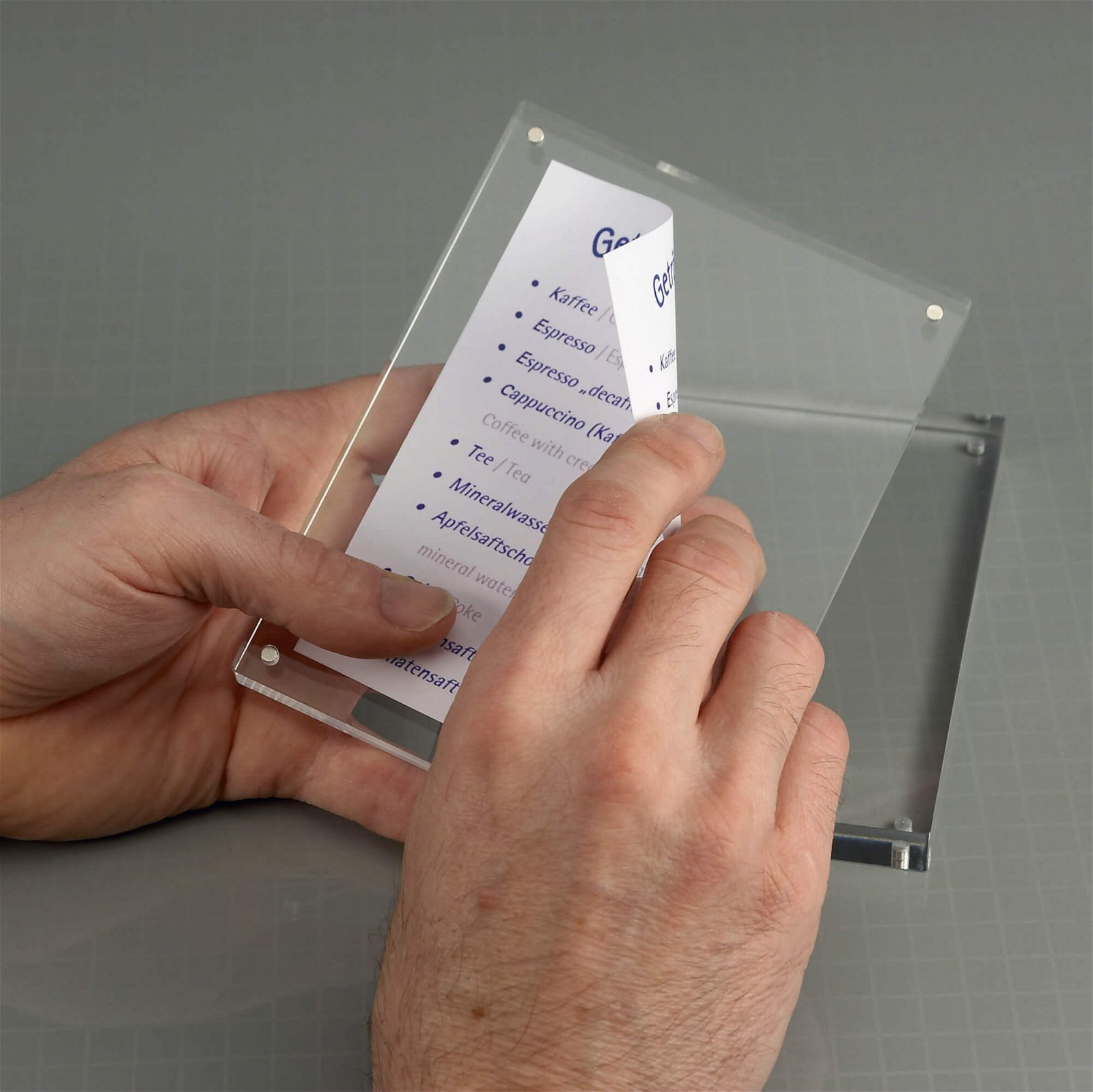 Acryl-Bilderhalter, 11,5 x 9 x 2,4 cm, glasklar