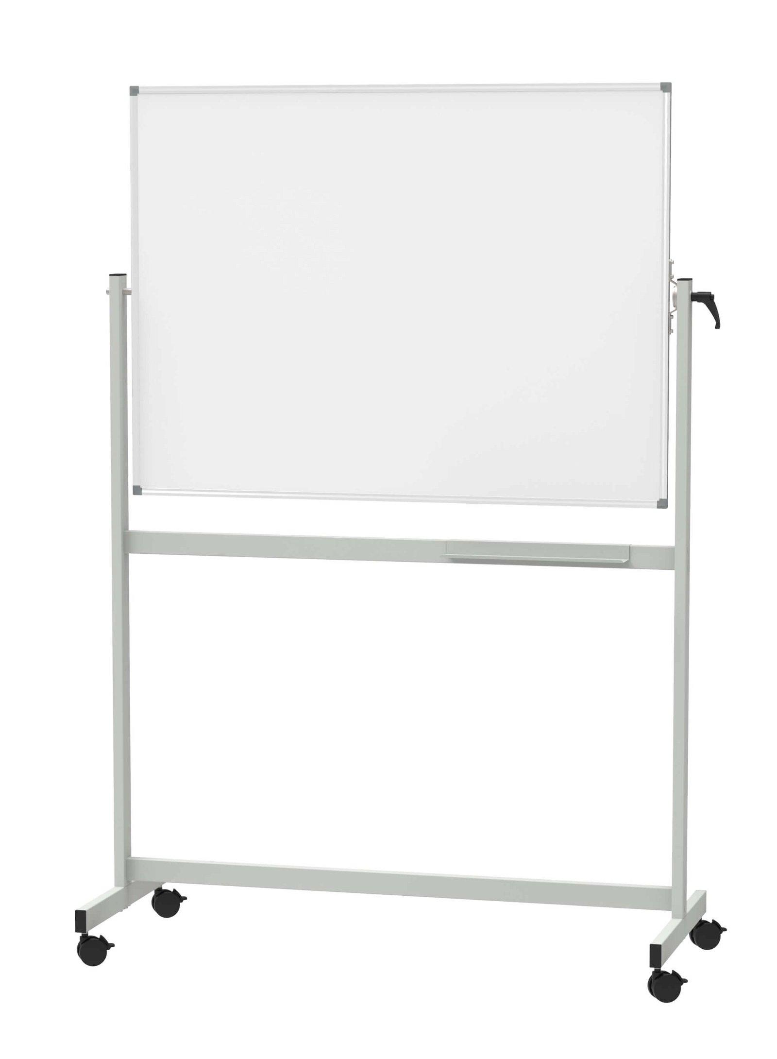 Mobiles Whiteboard, MAUL- standard, drehbar, 90x120 cm, grau