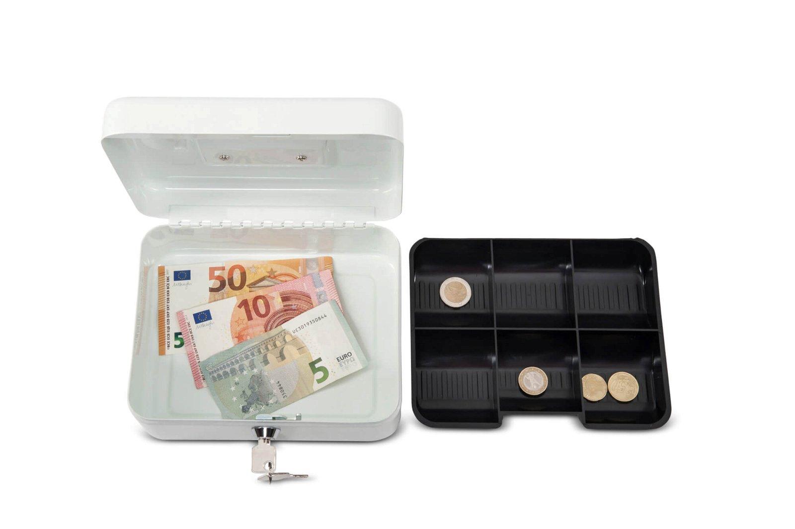 Geldkassette 2, 20 x 17 x 9 cm, weiß