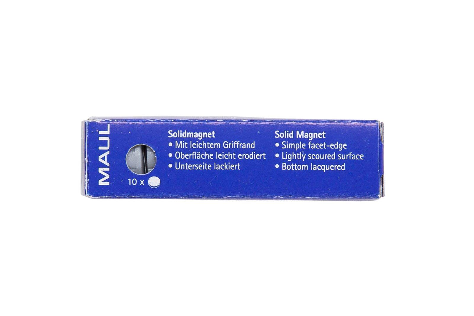 Magnet MAULsolid Ø 20 mm, 0,3 kg Haftkraft, 10 St./Ktn., grau