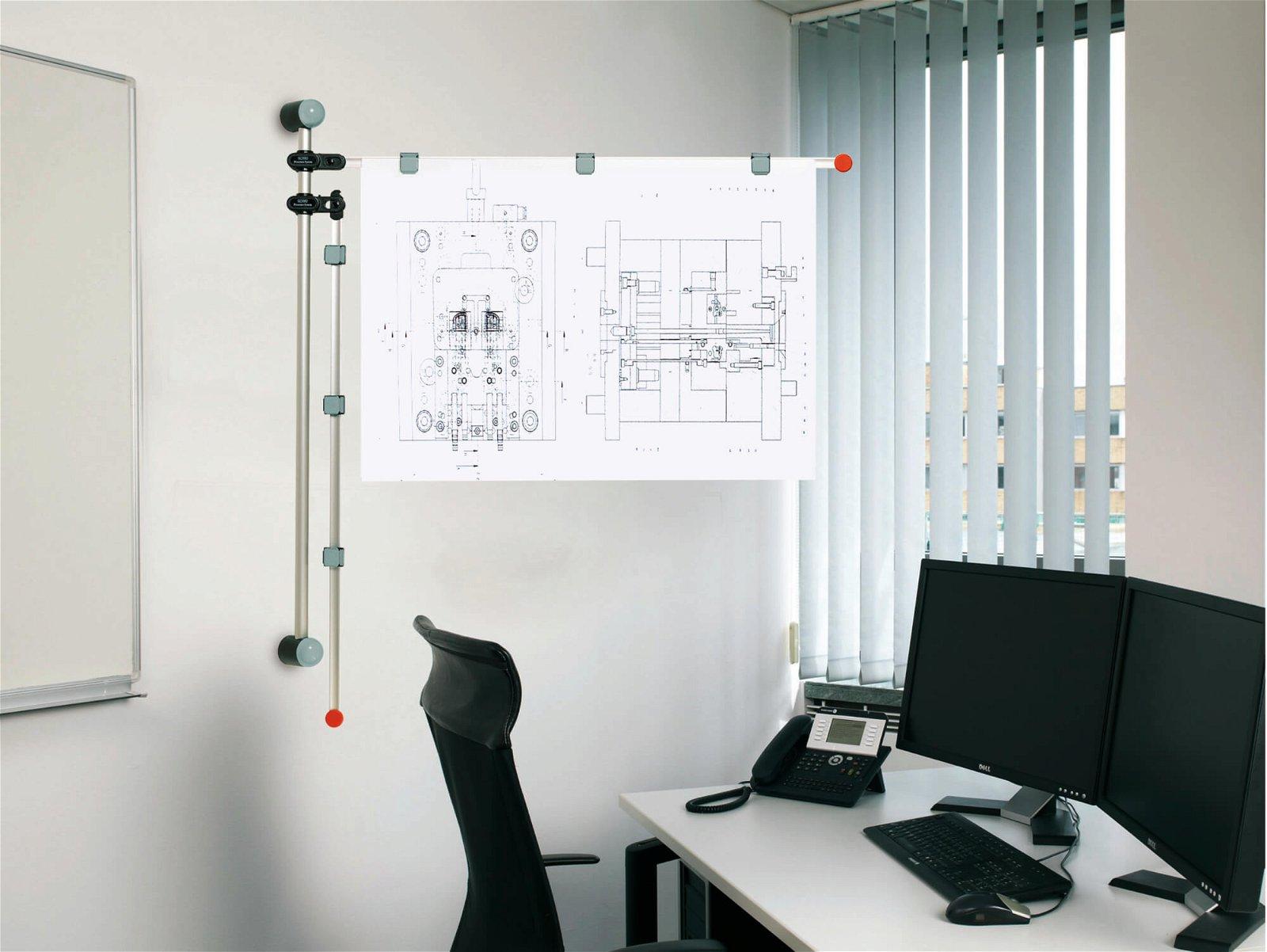 Planhalter Wand, grau