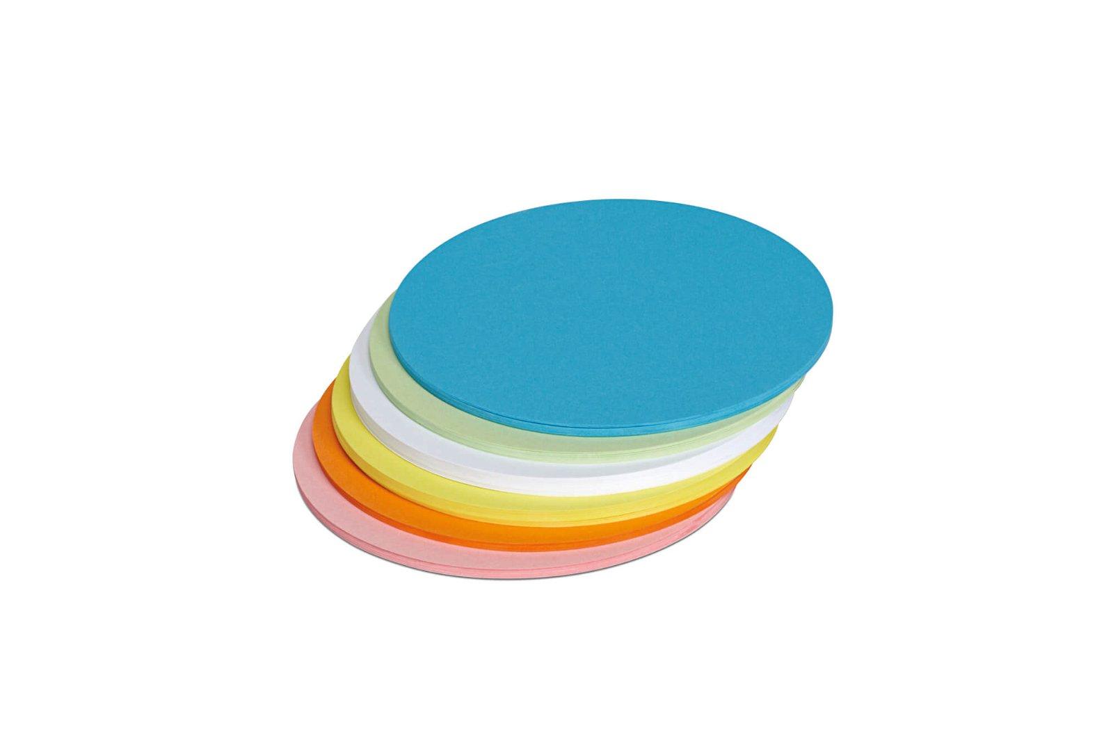 Moderationskarten rund, Ø 13,5 cm, 120 St./Pack, farbig sortiert