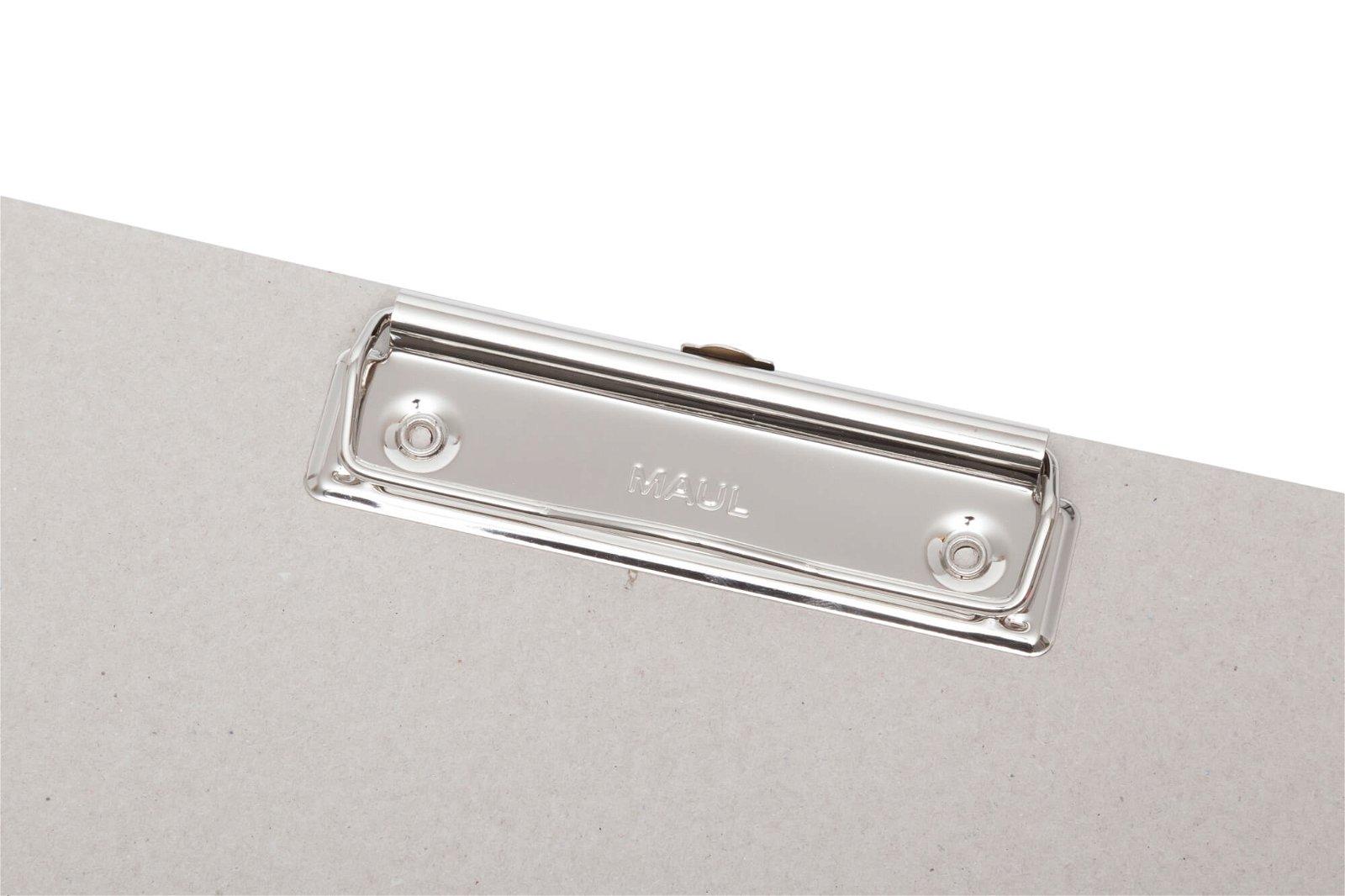 Schreibplatte, Karton mit Bügelklemme
