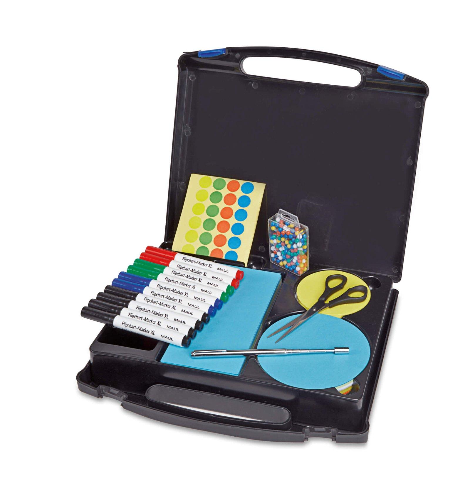 Moderatorenkoffer, Kunststoff, farbig sortiert