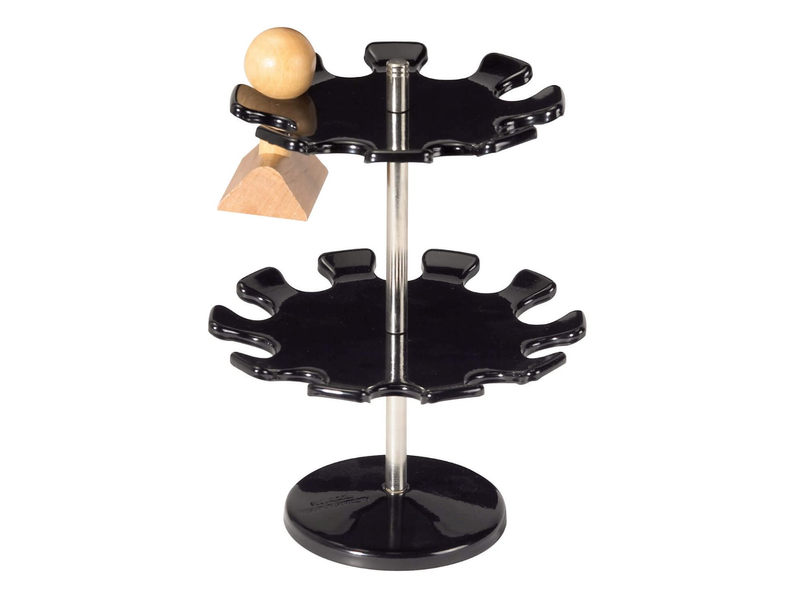 Stempelträger in runder Aus- führung, 18 Stempel, schwarz