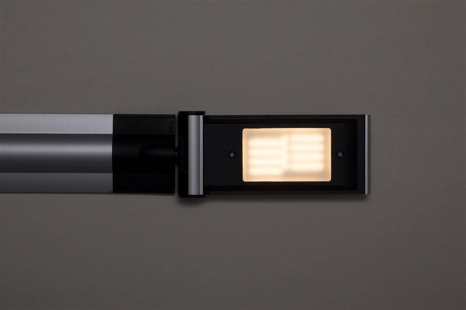 LED-Tischleuchte MAULoptimus, colour vario, dim., Standfuß, silber