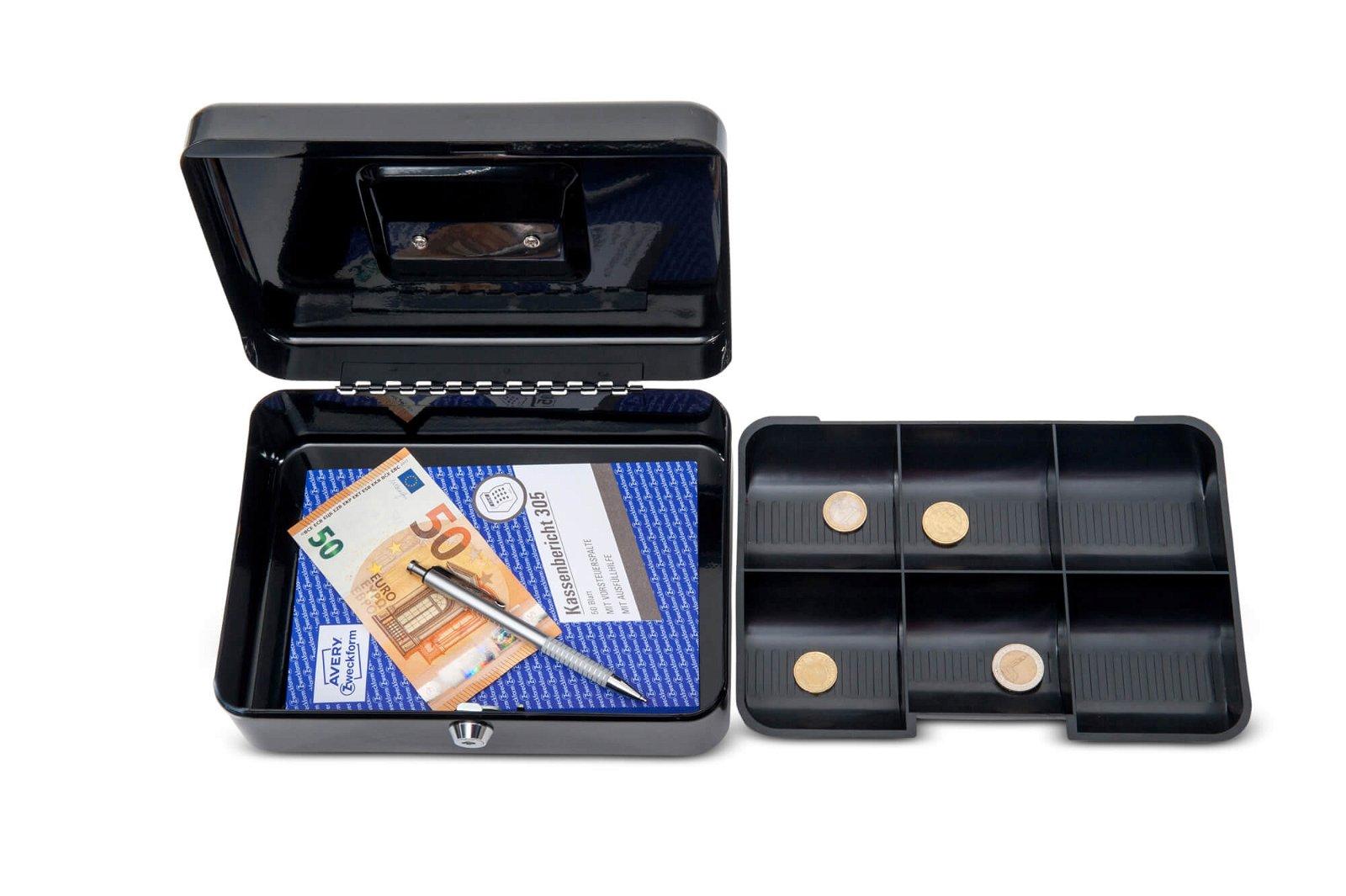 Geldkassette 3, 25 x 19,1 x 9 cm, schwarz
