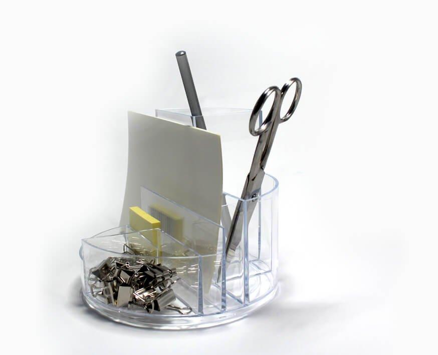 Rundbox, glasklar