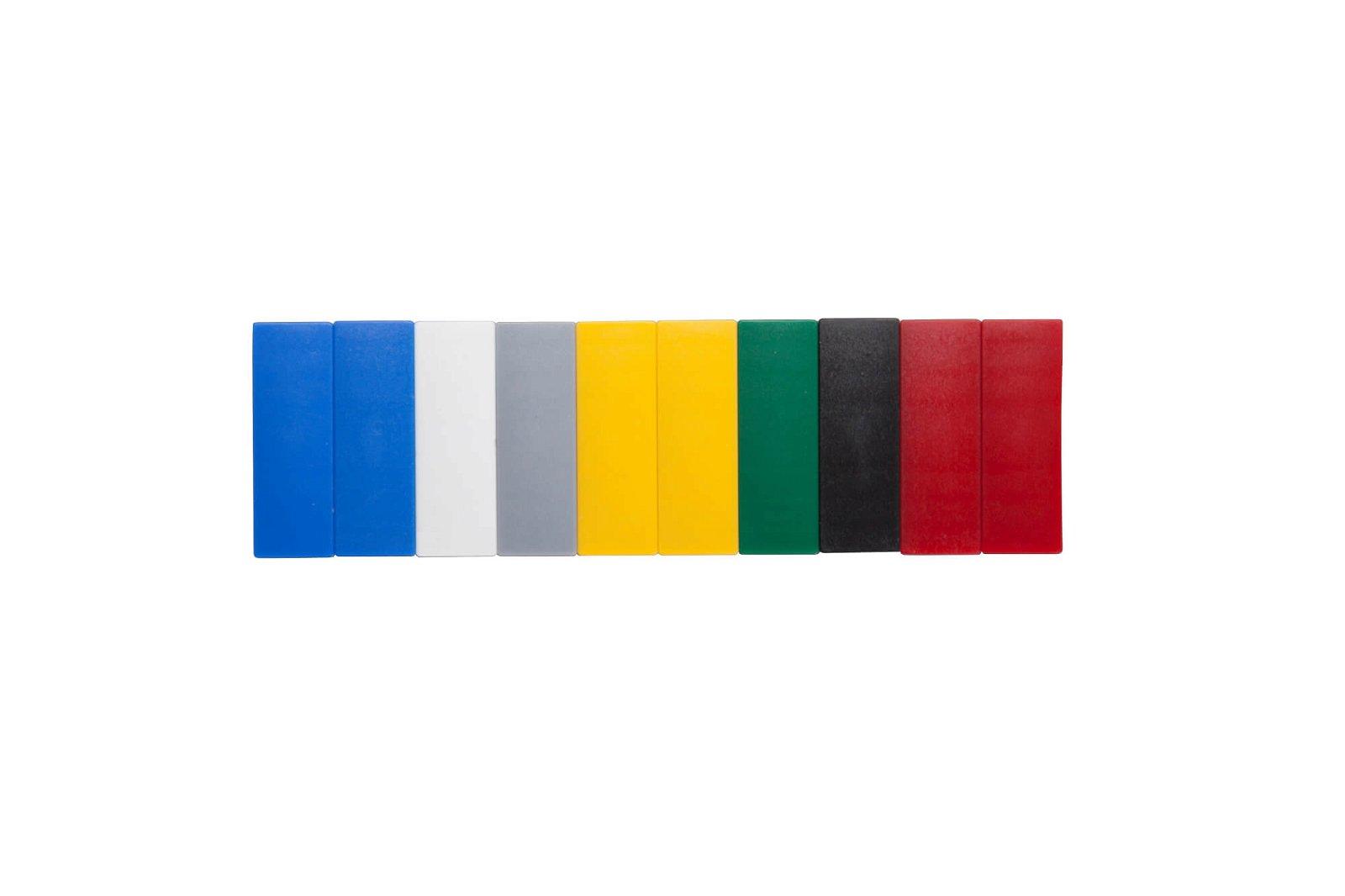 Magnet MAULsolid 54 x 19 mm, 1 kg Haftkraft, 10 St./Ktn, farbig sortiert