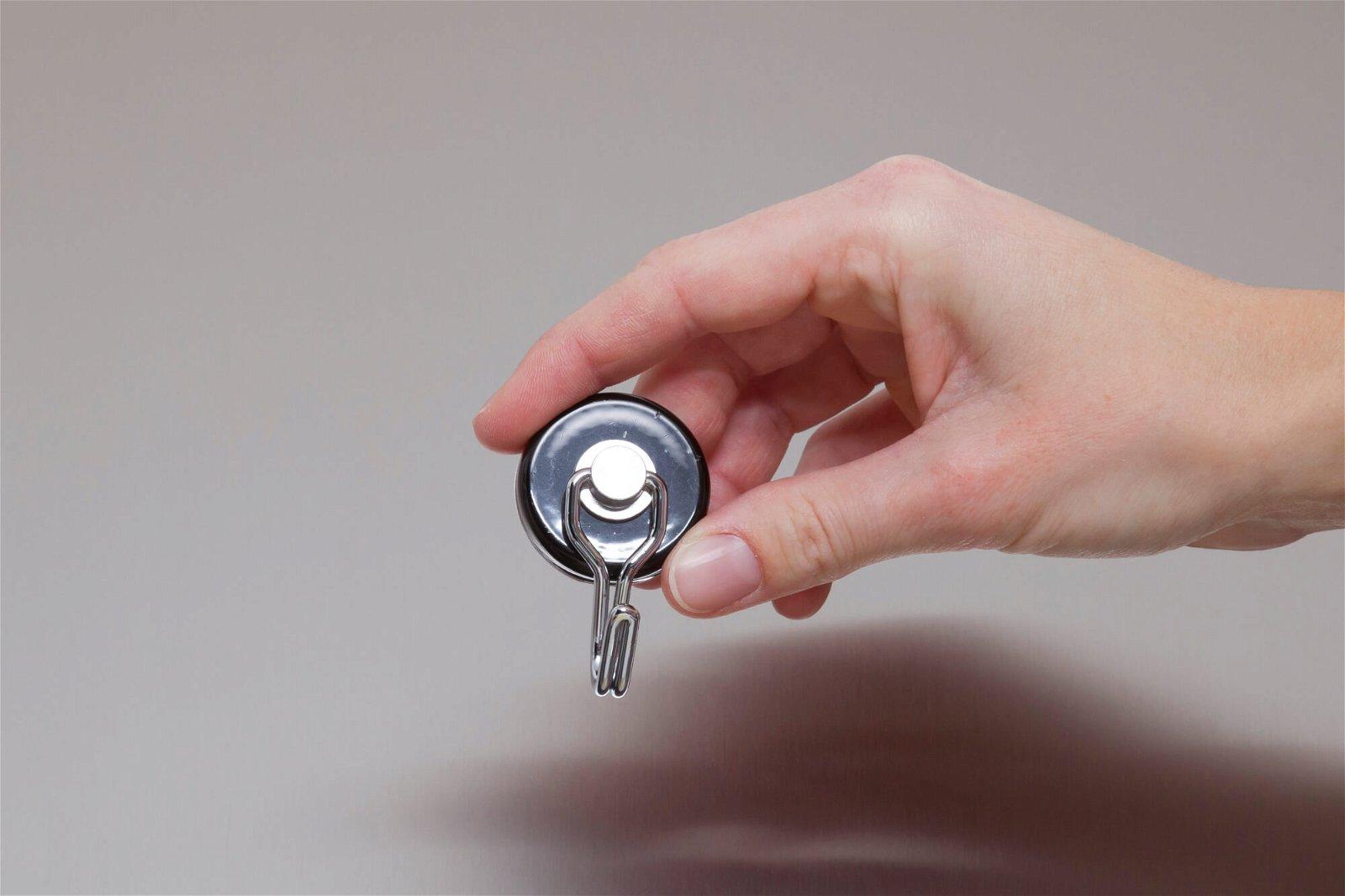 Magnet Karussell-Haken Ø 35 mm, 5 kg Haftkraft, 2 St./Set, schwarz