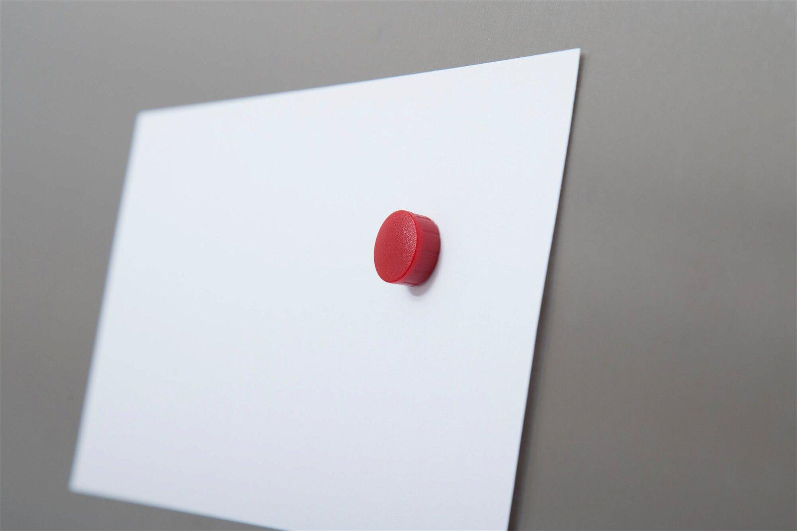 Magnet MAULsolid Ø 15 mm, 0,15 kg Haftkraft, 10 St/Ktn., rot
