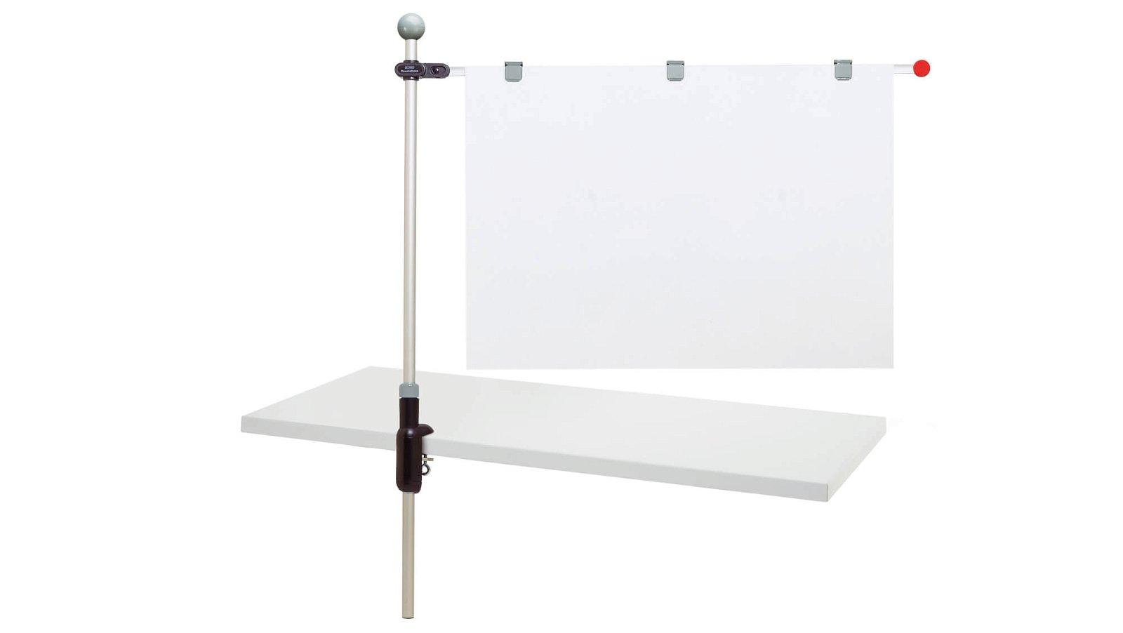 Planhalter Tisch, grau