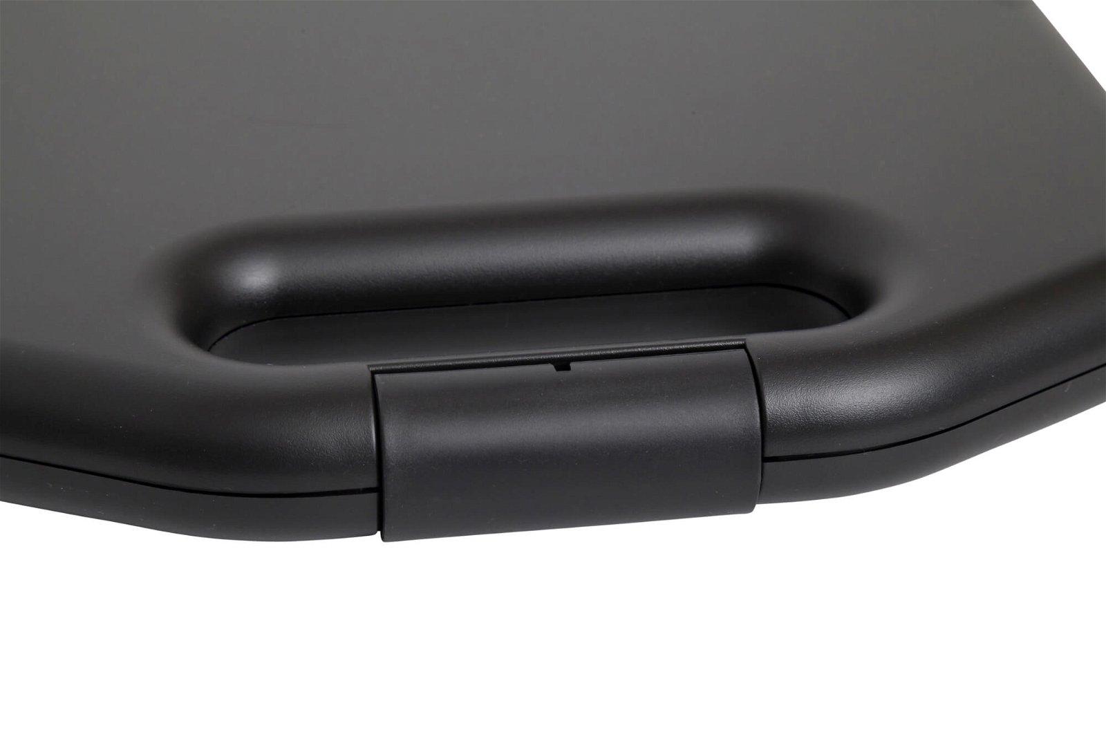 Schreibplatte A4 Kunststoff mit Aufbewahrungsfach, breit, schwarz