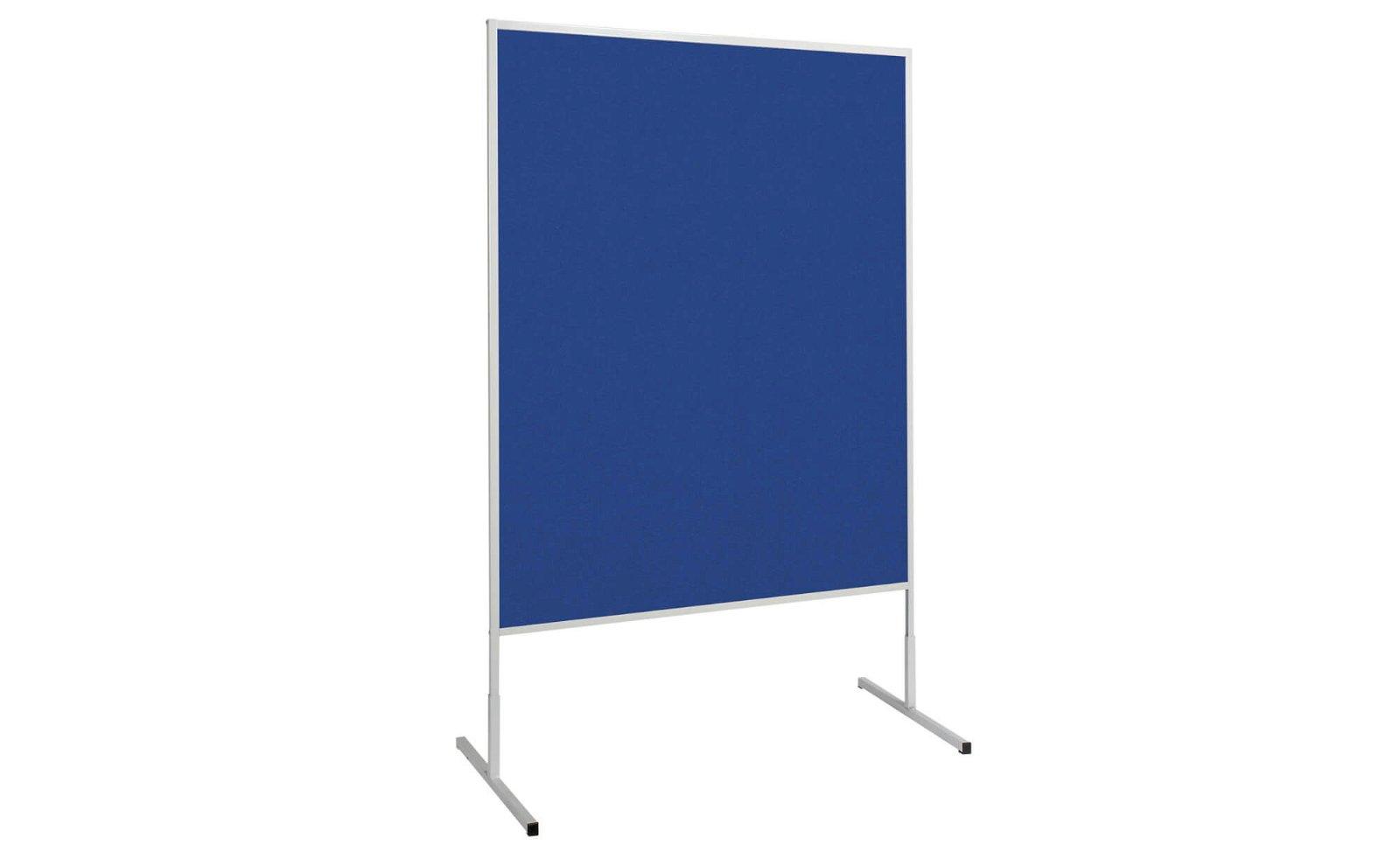 Moderationstafel MAULstandard Filz blau, 150x120 cm, grau