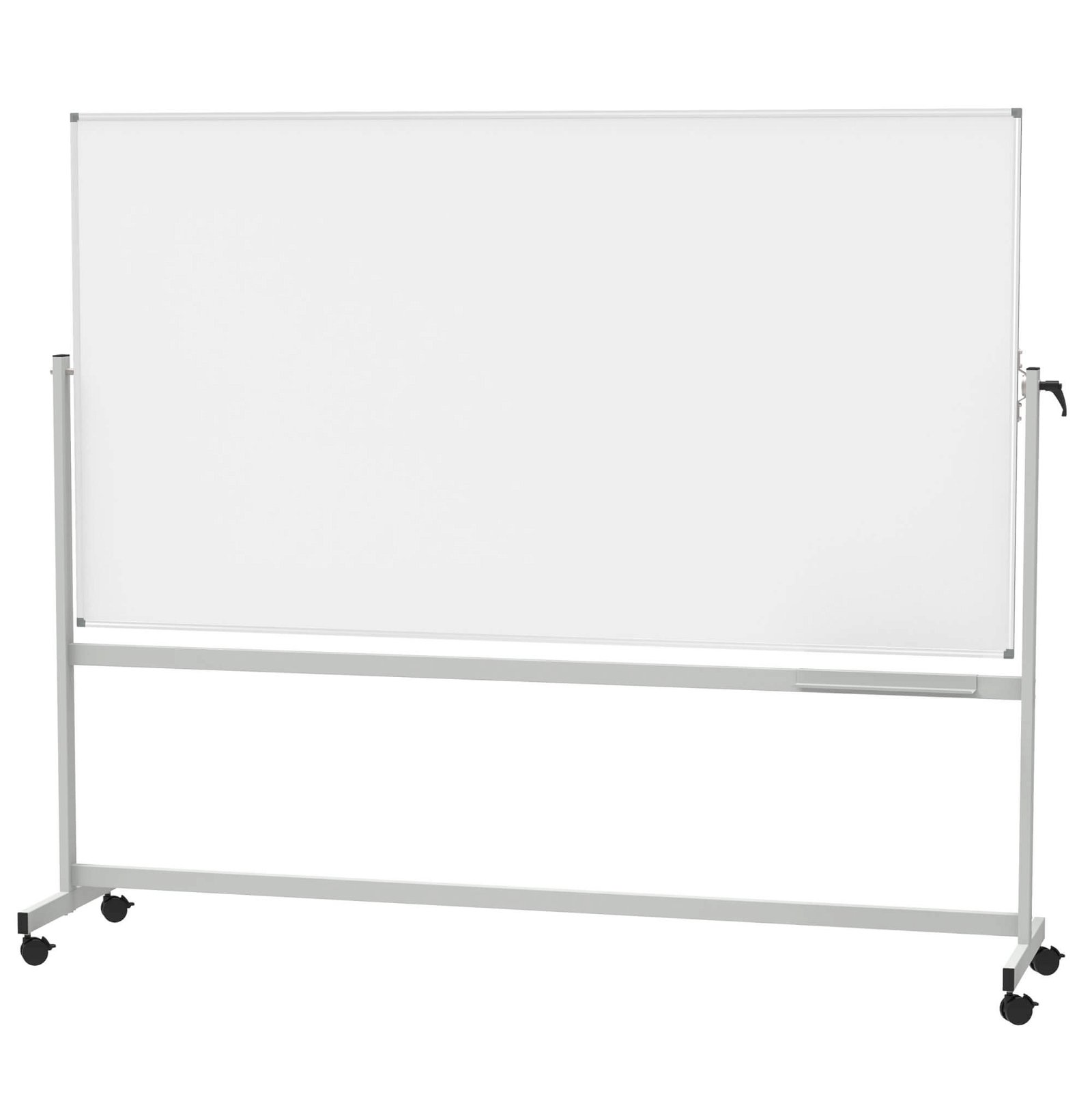 Mobiles Whiteboard, MAUL- standard, drehbar, 120x220 cm, grau