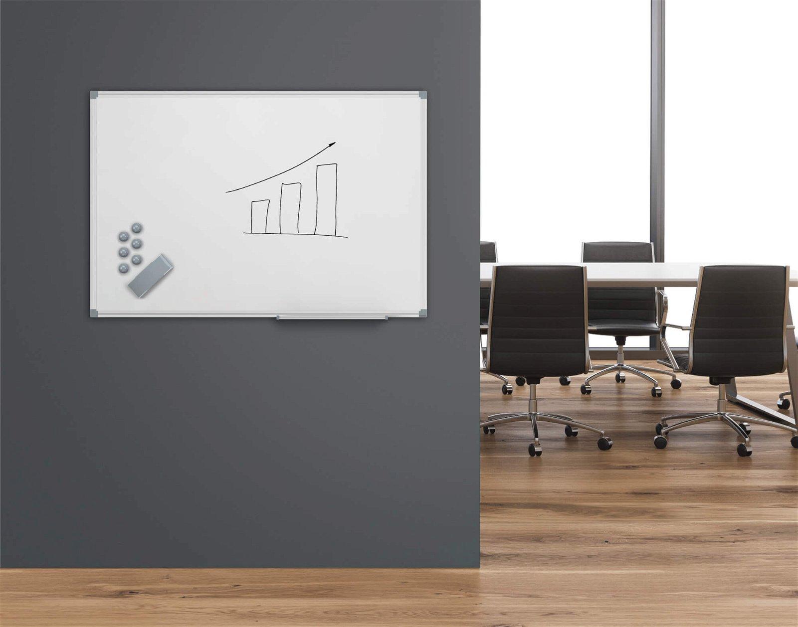 Whiteboard MAULstandard, 30x45 cm, grau