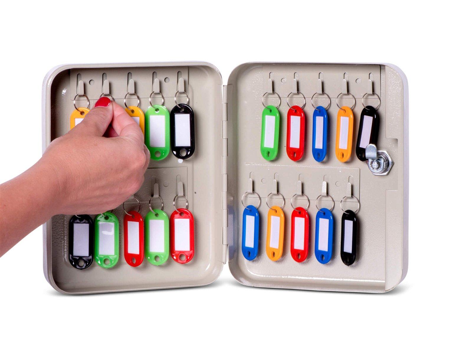Schlüsselkasten für 20  Schlüssel, grau