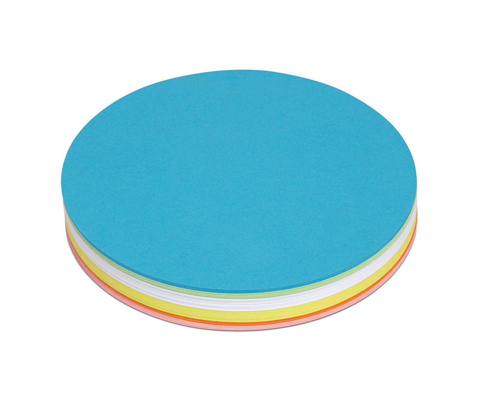 Moderationskarten rund, Ø 18,5 cm, 120 St./Pack, farbig sortiert