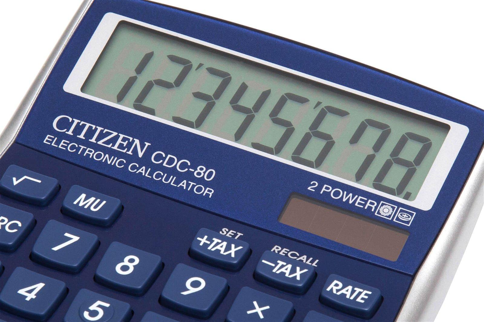 Tischrechner CDC 80BLWB, blau