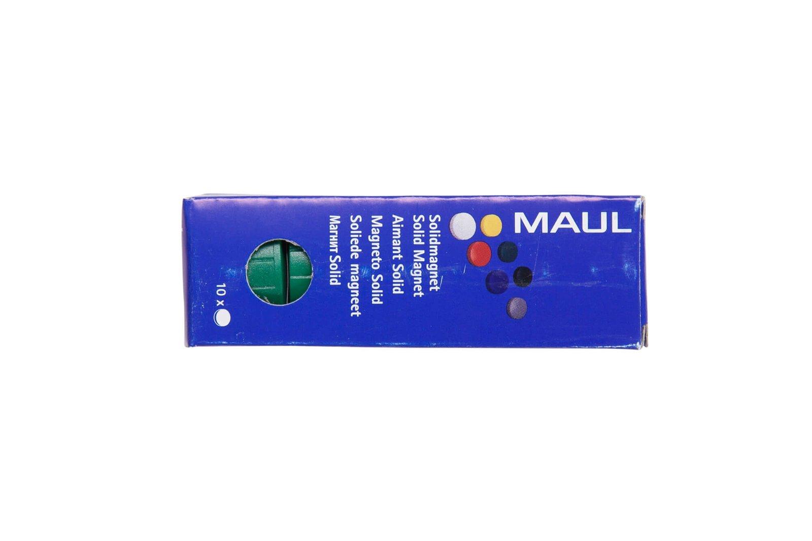 Magnet MAULsolid Ø 32 mm, 0,8 kg Haftkraft, 10 St./Ktn., grün