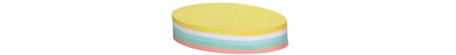 Moderationskarten, oval, 19 x 11 cm, 250 St./Pack, farbig sortiert