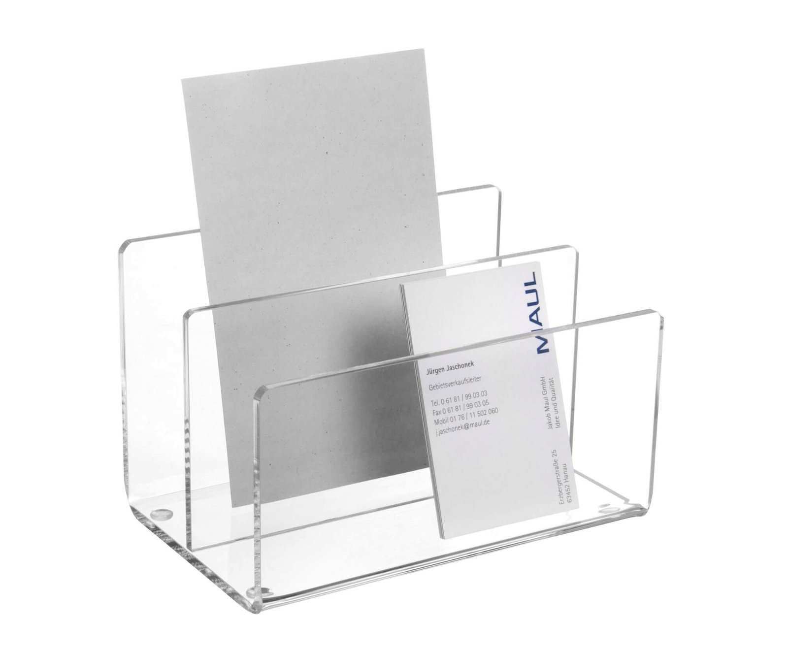 Acryl-Kartenständer, glasklar