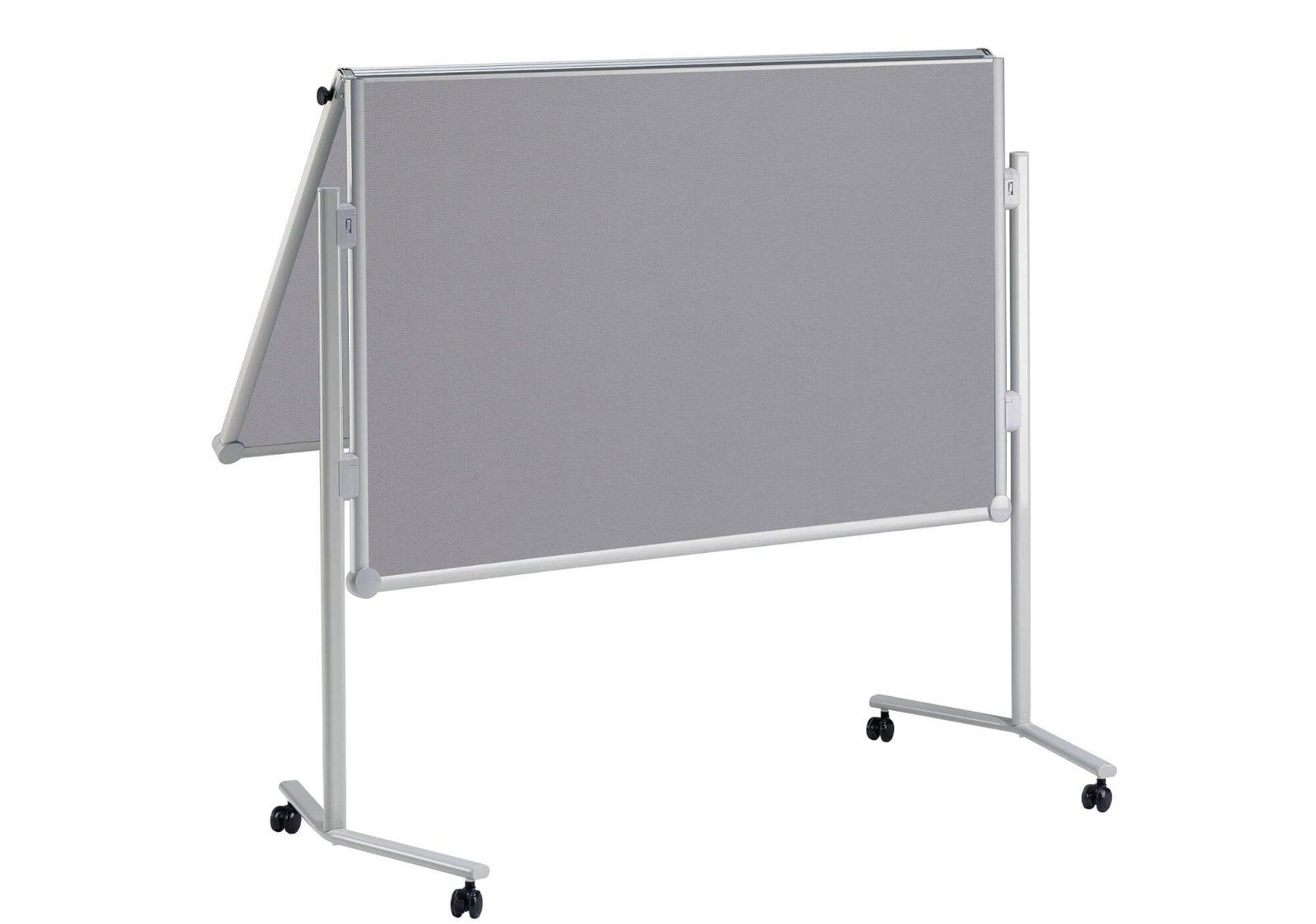 Moderationstafel MAULpro klappb. Textil grau, 150x120cm, grau