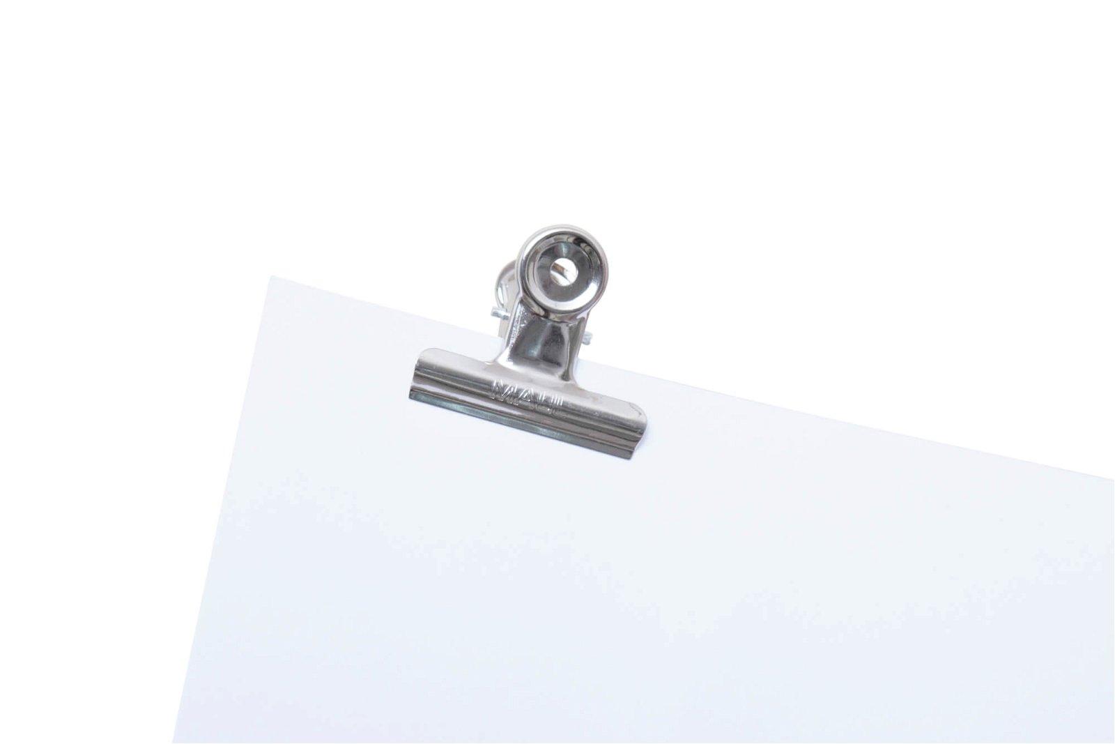 Brief-Klemmer, Breite 50 mm, 10 St./Btl., hellsilber