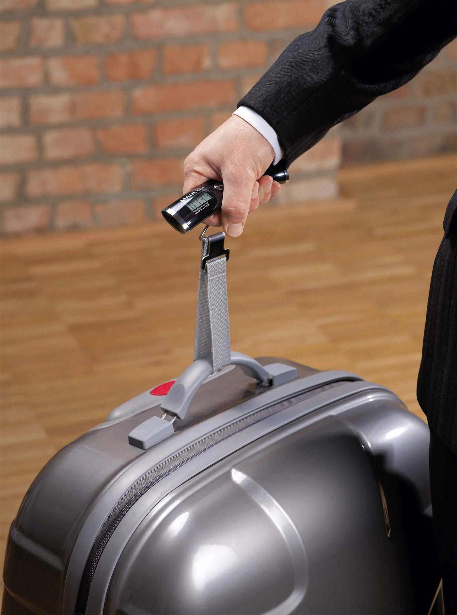 Gepäckwaage MAULtravel mit Batterie, 40 kg, schwarz