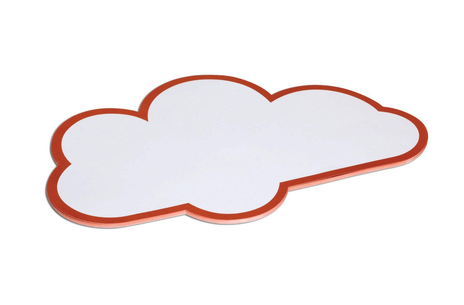 Moderationskarten Wolke, 27 x 43 cm, 20 St./Pack, weiß