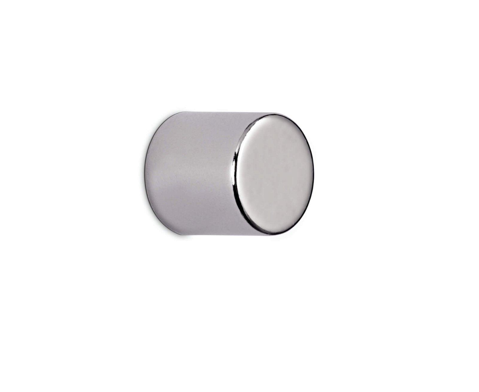 Neodym-Zylindermagnet,10x10 mm  4 kg Haftkraft, 4 St./Set, hellsilber