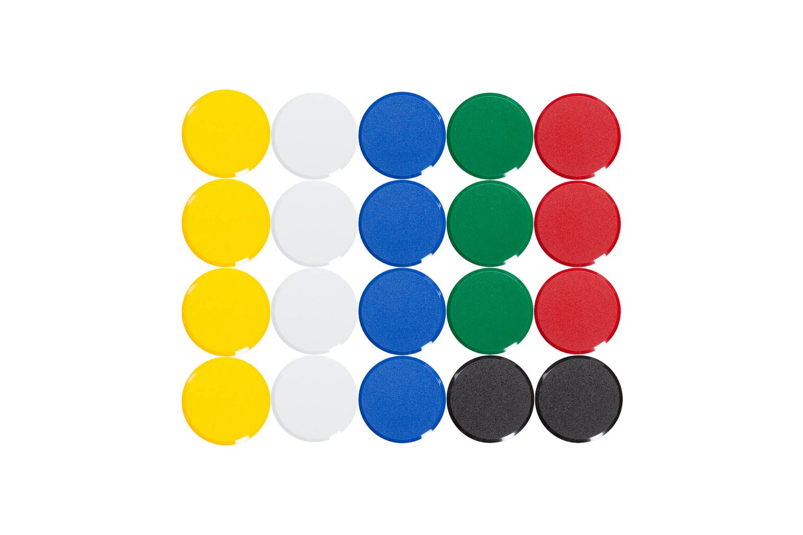 Facetterand-Magnet MAULpro Ø 34 mm, 2 kg, 20 St./Set, farbig sortiert
