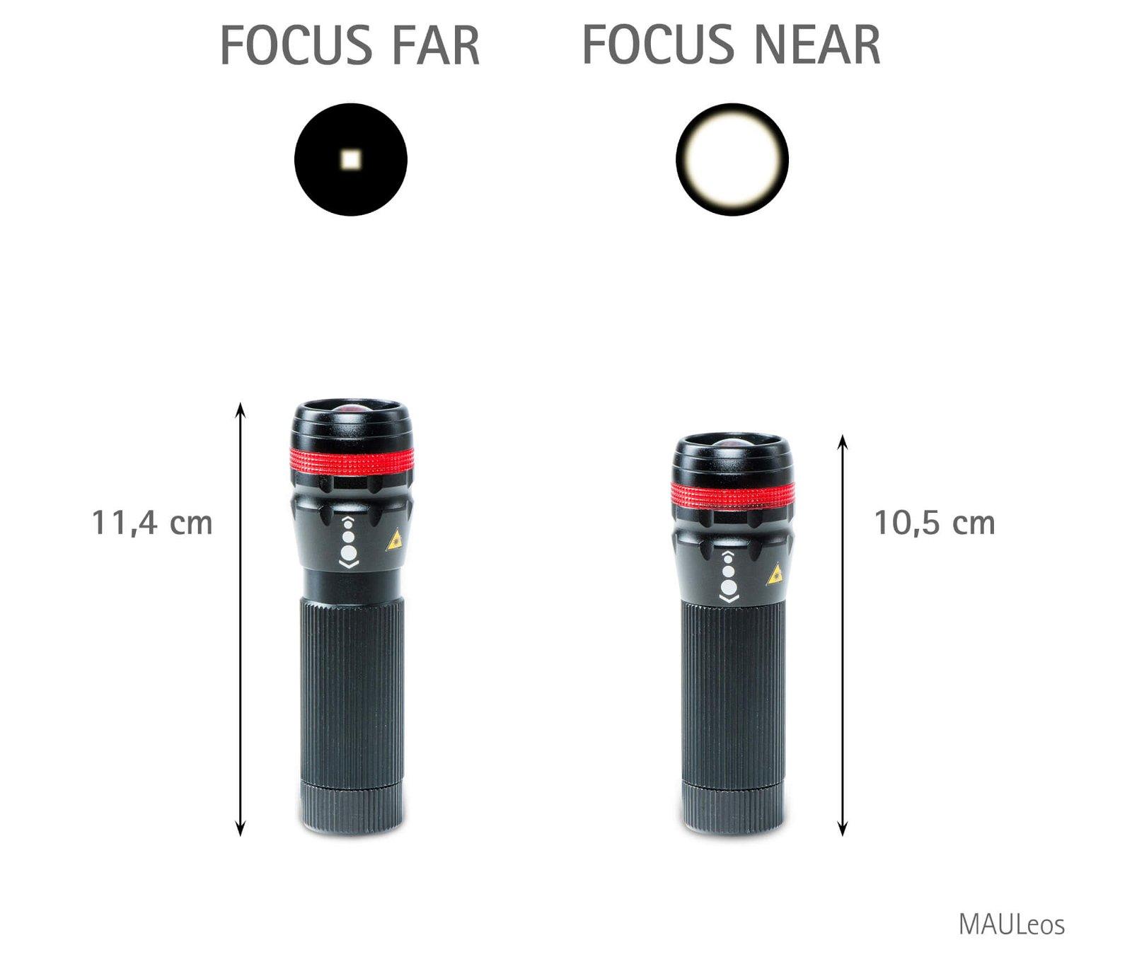 LED-Taschenlampe MAULeos Zoom