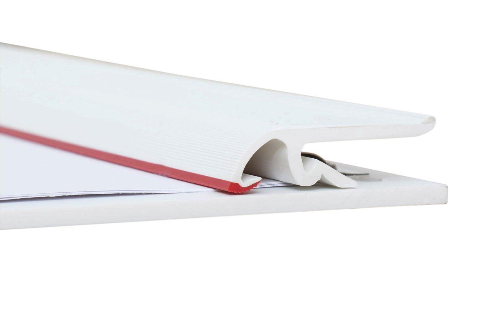 A3 Schreibplatte MAULpro Kunststoff Klemmer kurze Seite, weiß