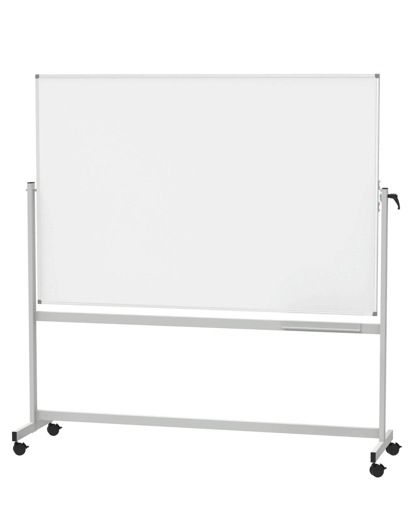 Mobiles Whiteb. MAULstandard, drehbar, Emaille, 120x180 cm, grau