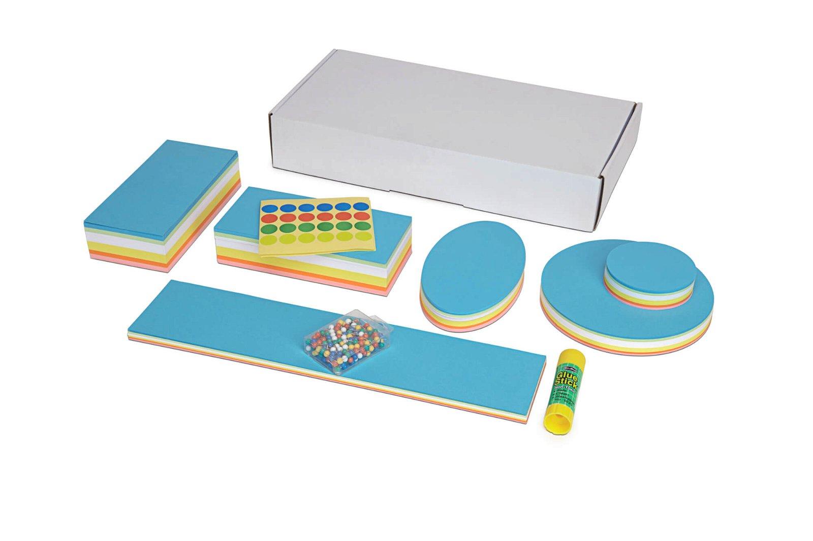 Moderations-Zubehör, Karton, farbig sortiert