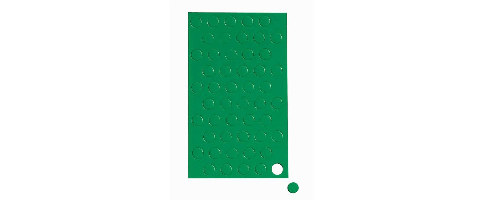 Magnetsymbole Kreis,  50 St./Btl., grün