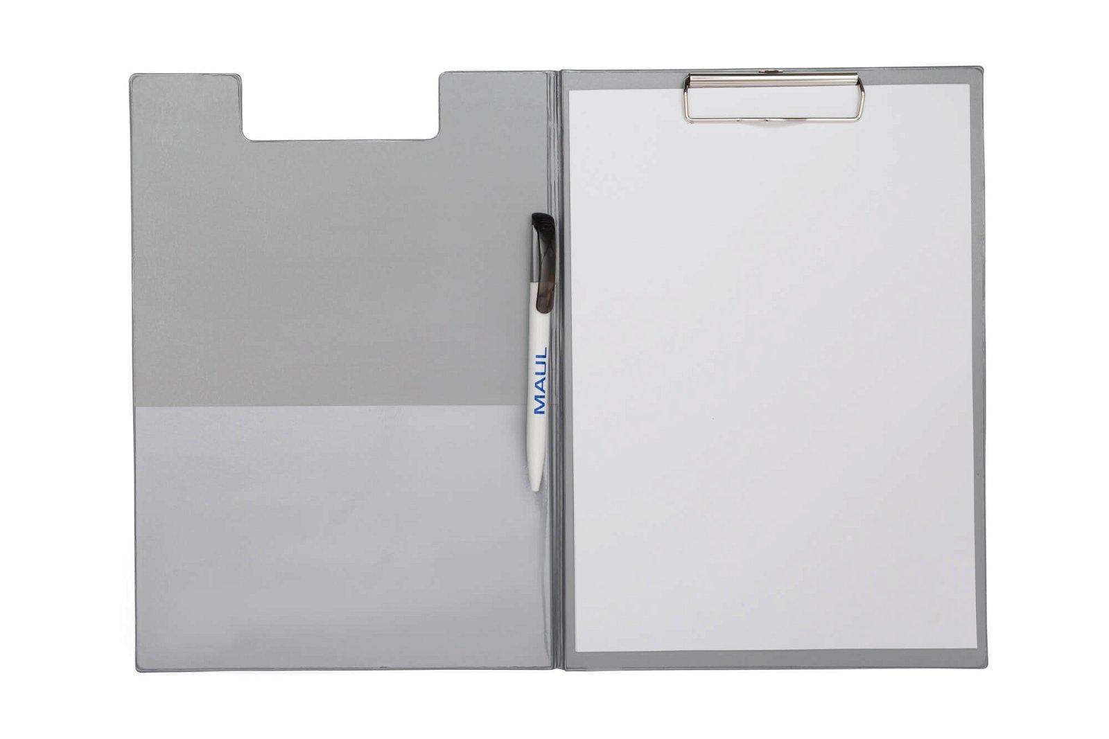 A4 Schreibmappe mit Folien- überzug, silber