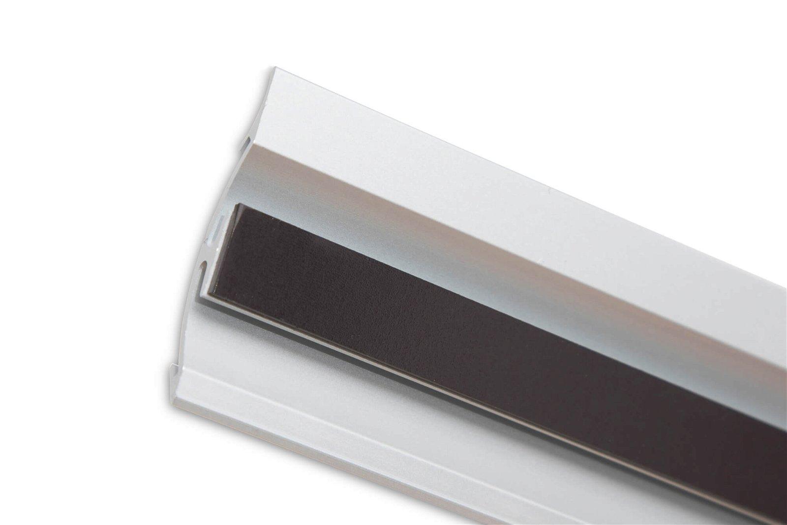 Infoleiste Aluminium, Länge 21 cm, aluminium