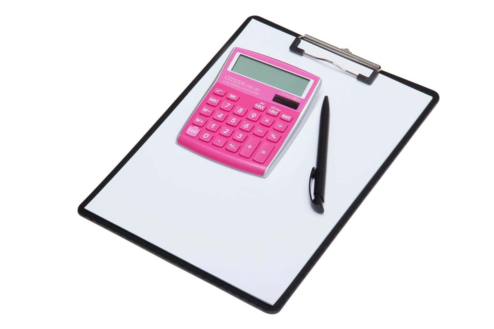 Tischrechner CDC 80PKWB, pink