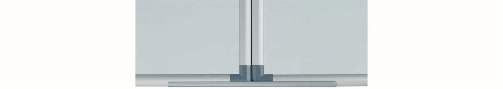 Whiteboard Klapptafel MAULpro, 100x120 cm, grau
