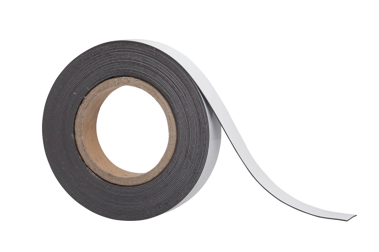 Kennzeichnungsband magnet- haftend, 10 m x 30 mm x 1 mm, weiß