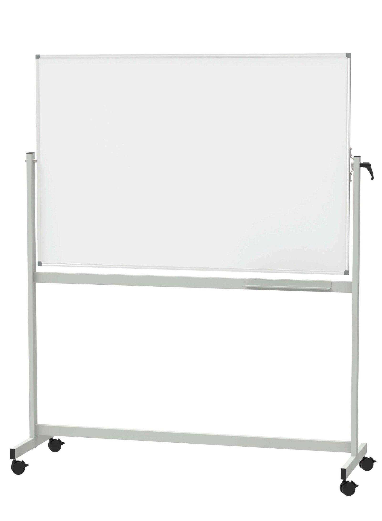 Mobiles Whiteb. MAULstandard, drehbar, Emaille, 100x150 cm, grau